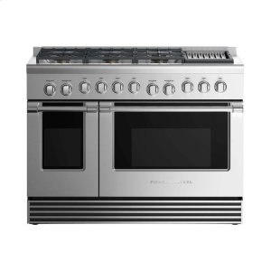 "Fisher & PaykelGas Range 48"", 6 Burners with Grill"