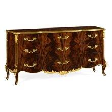 9 Drawer Triple Dresser Brown Mahogany