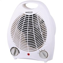 Portable Electric Space Heater & Fan (White)