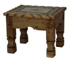 End Table W/Rope,Stone & Star Medio