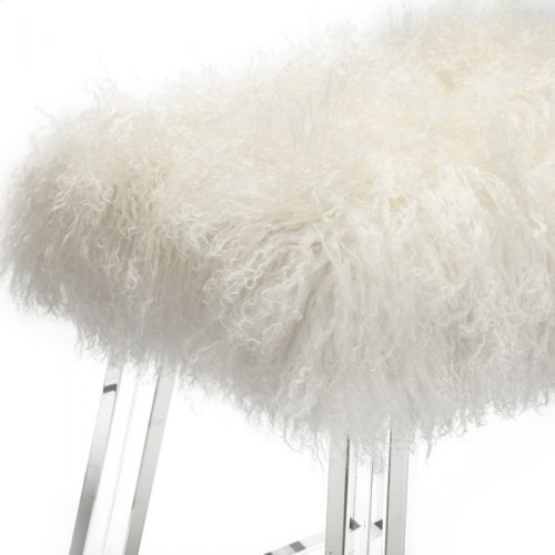 Reva Counter Stool - Ivory Sheepskin