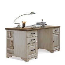 Aberdeen Desk Top 69 lbs Toasted Pecan/Weathered Worn White finish