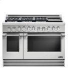 "48"" Professional, 6 Burner Gas Range W/griddle Product Image"