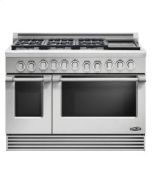 "48"" Professional, 6 Burner Gas Range W/griddle"