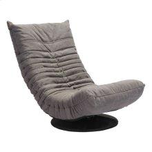 Down Low Swivel Chair Gray