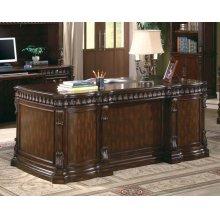 Tucker Traditional Rich Brown Executive Desk