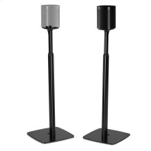 Black- Pair of Flexson Adjustable Floor Stands for One/Play:1