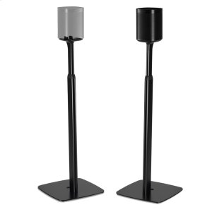 SonosBlack- Pair of secure and adjustable floor stands for home cinema surrounds.