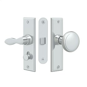 Storm Door Latch, Square, Mortise Lock - Polished Chrome