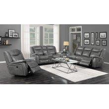 Conrad Transitional Grey Power Sofa