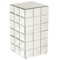 Medium Mirrored Puzzle Cube Pedestal Product Image