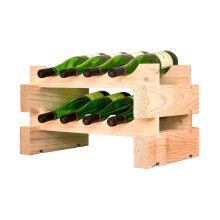 2 x 4 Bottle Modular Wine Rack (Natural)