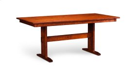 "Shenandoah Trestle II Table, Shenandoah Trestle II Table, 42""x84"", 1-32"" Stationary Butterfly Leaf"