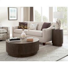 Joelle - Round Side Table - Carbon Gray Finish