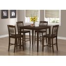 DINING SET - 5PCS SET / CAPPUCCINO VENEER COUNTER HEIGHT Product Image