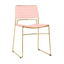 Domani Blush Vegan Leather Chair (Set of 2)