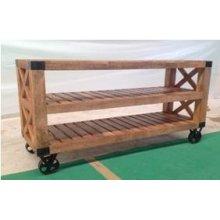 Industrial Natural Mango Sofa Table