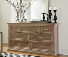 Sonoma 7 Drawer Dresser Weathered Gray