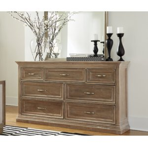 JOHN THOMAS FURNITURESonoma 7 Drawer Dresser Taupe Gray