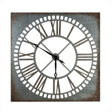 Antiqued Galvanized Wall Clock.