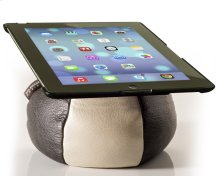 The Saddle Ipad Holder, Leather, Creme / Charcoal