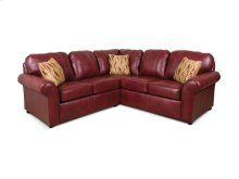 England 2 piece Leather Sectional 2400L-Sect