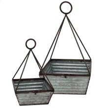 SET OF 2 metal basket