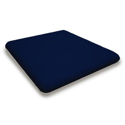 """Navy Seat Cushion - 16.5""""D x 17.5""""W x 2.5""""H"""