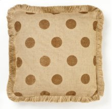 Brown Dot Burlap Pillow