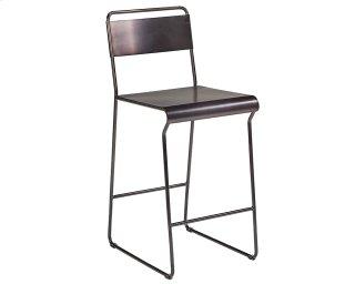 Blackened Bronze Span Metal Barstool