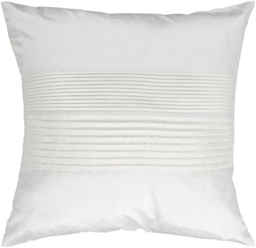 "Solid Pleated HH-017 18"" x 18"" Pillow Shell with Down Insert"