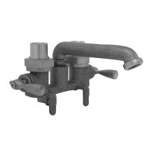 Rough Brass Gerber Classics Two Handle Clamp On Laundry Faucet W/ Ips/sweat Connections -no Threads On Spout 2.2GPM