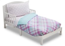 Plaid and Gingham 4-Piece Toddler Bedding Set - Kid bundle - Plaid and Gingham (2004)