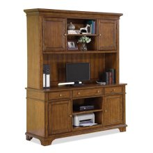 Marston Credenza Hutch Rutledge Burnished Oak finish