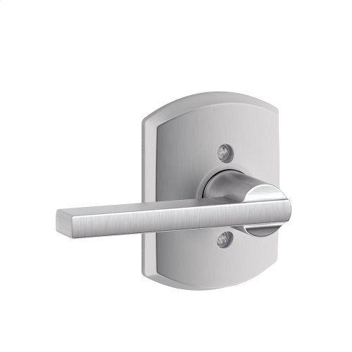 Latitude Lever with Greenwich trim Non-turning Lock - Satin Chrome