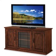 """Oak Leaded Glass 50"""" TV Stand #80350 Product Image"""
