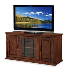 "Oak Leaded Glass 50"" TV Stand #80350"