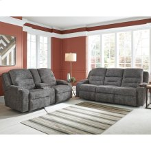 Triple Power Sofa w/Wand/Fold Down Table w/USB/Lights/Q1 Charging/Lighted Cupholders/Dual Arm Storage /Drawer