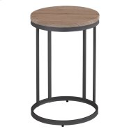 Munich Round Accent Table in Grey Product Image