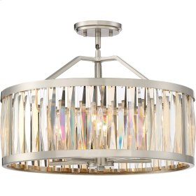 Ballet Pendant in Brushed Nickel