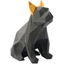 Mans Best Friend Sculpture - Grey and Gold