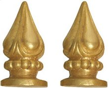 Pair of Finials for Paumelle & Hinges Empire Style