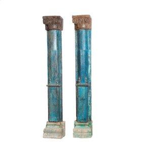 Wooden Pillar Half Set of 2