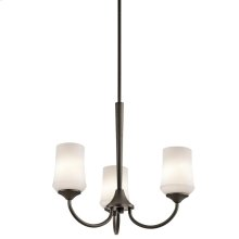Aubrey Collection Aubrey 3 Light Chandelier - Olde Bronze OZ