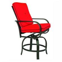 9823 Cushion Swivel Balcony Barstool
