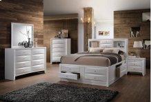 Emily White Storage Bedroom