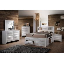 Emily White Storage Bedroom