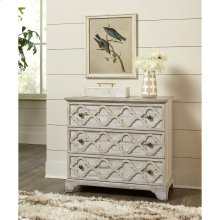 Madison - Three Drawer Bachelor Chest - Rustic White Finish