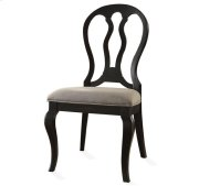 Belmeade Queen Ann Upholstered Side Chair Raven Black finish Product Image