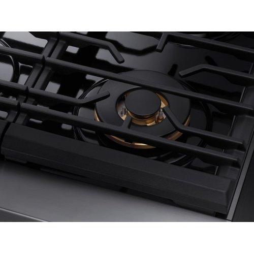 "36"" Gas Professional Range in Matte Black Stainless Steel"